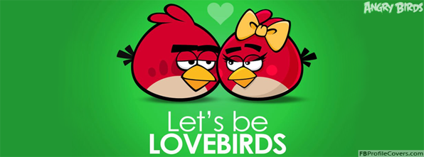 Let's Be Lovebirds Facebook Timeline Profile Cover Photo - Angry Birds Timeline Covers