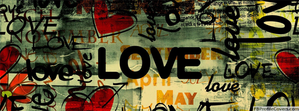 Love Art Facebook Cover - love graffiti timeline cover photo