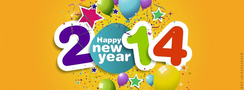 2014 Happy New Year Facebook Cover Picture