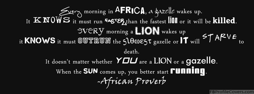 African Proverb Facebook Timeline Cover