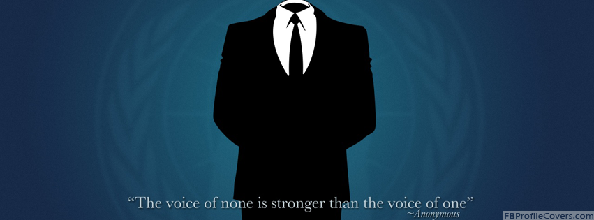 Anonymous Facebook Timeline Cover