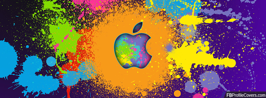 Apple Colorful Logo Facebook Cover