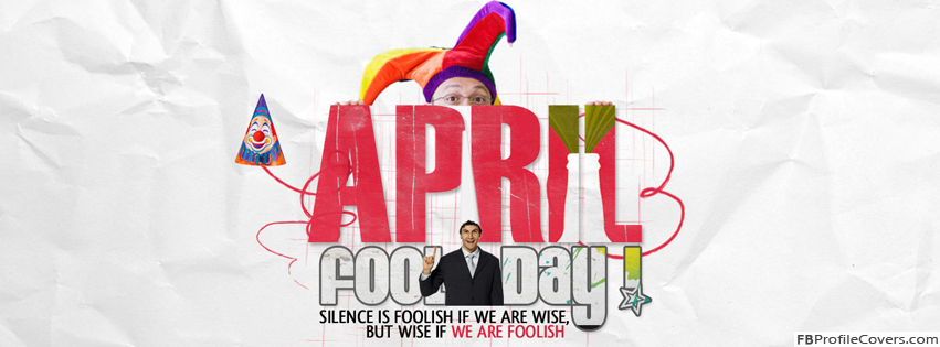 April Fools Day Facebook Timeline Profile Cover