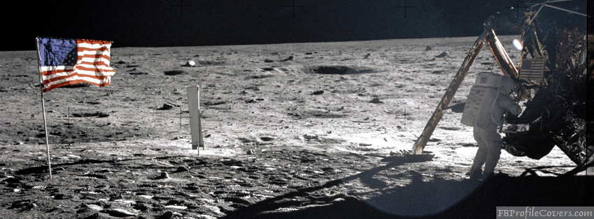 Armstrong On The Moon Facebook Timeline Cover