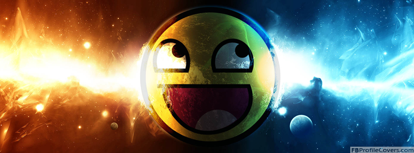 Awesome Smiley FB Timeline Profile Banner Image
