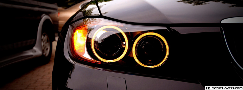 BMW Headlights Facebook Timeline Profile Cover Photo