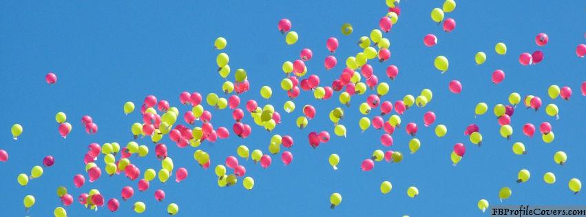 Balloons Facebook Timeline Cover Picture