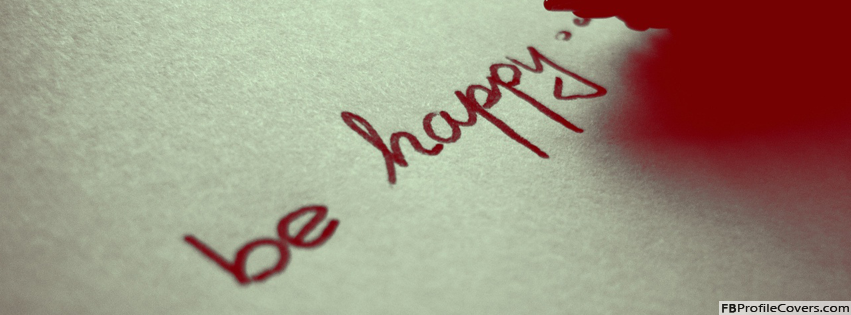 Be Happy Words Facebook Timeline Cover