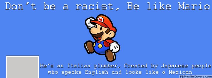 Be Like Mario Facebook Timeline Profile Cover