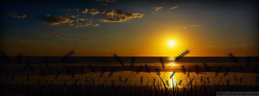 Beautiful Sunset Facebook Timeline Cover