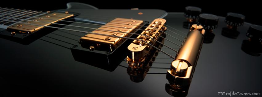 Black Guitar Facebook Timeline Cover