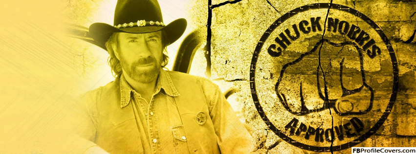 Chuck Norris Approved Facebook Timeline Profile Cover