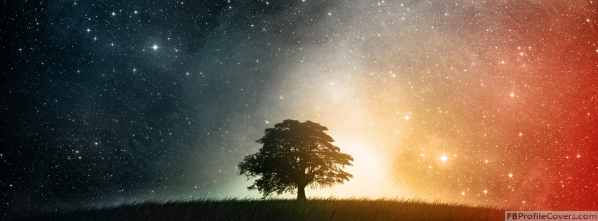 Colorful Night Sky Facebook Timeline Cover Photo