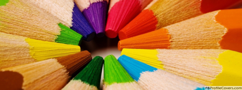 Colorful Pencils Facebook Cover For Timeline Banner Photo