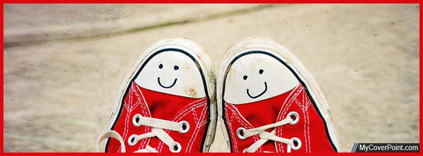 Cute Canvas Sneakers Facebook Cover