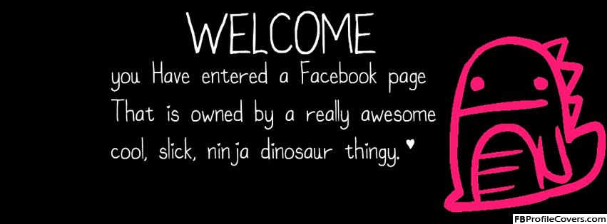 Cute Welcome Facebook Timeline Cover Photo