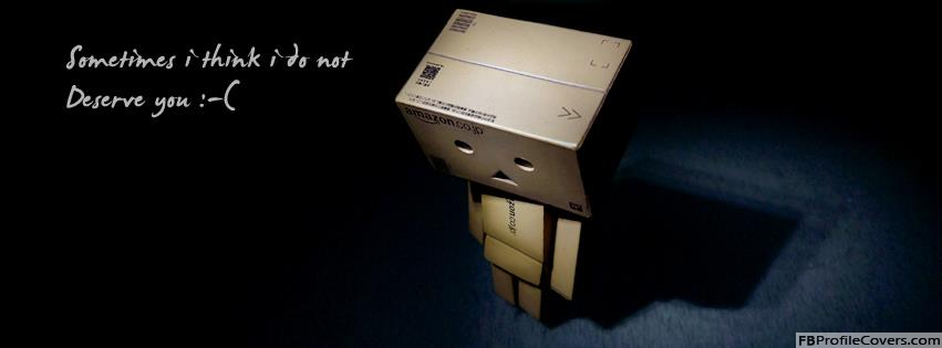 Danbo Sad Quote Facebook Timeline Cover Photo