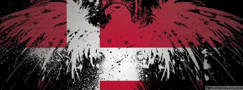 Denmark Flag With Eagle Facebook Timeline Profile Cover Photo