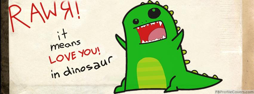 Dinosaur Rawr Facebook Timeline Profile Cover Photo - FB Timeline Banner