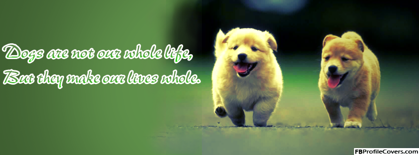 Dogs Quote Facebook Timeline Profile Cover