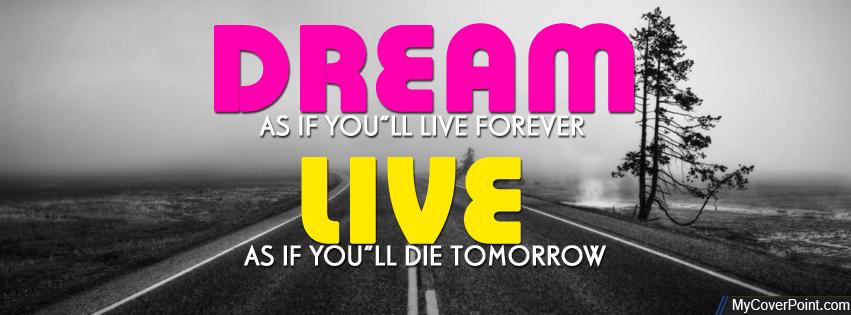 Dream & Live Facebook Timeline Cover Photo