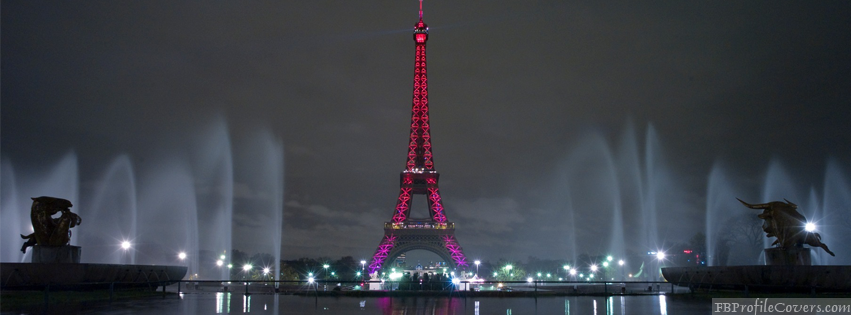 Eiffel Tower At Night Facebook Timeline Cover