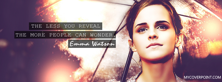 Emma Watson Quote Facebook Cover