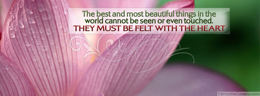 Feel With Heart Facebook Cover Photo