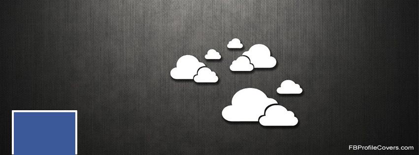 Few Clouds Facebook Timeline Cover Image