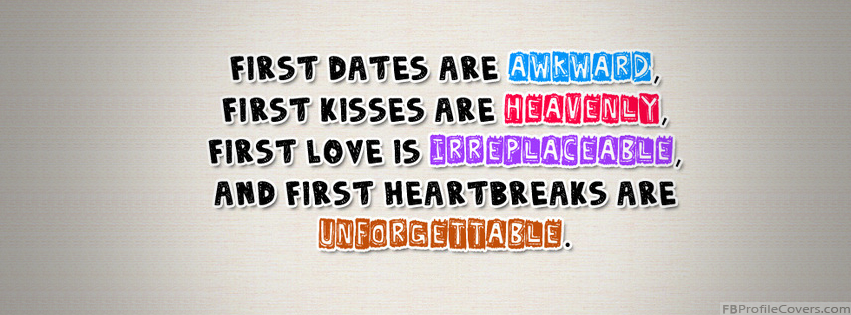 First Heartbreaks Facebook Timeline Cover