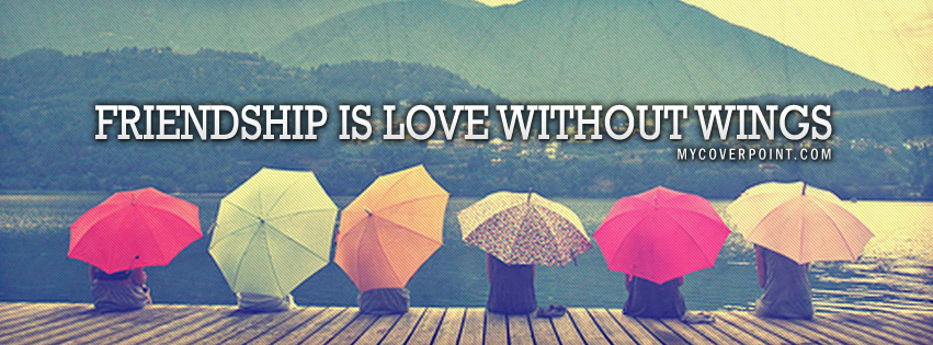 Friendship Is Love Facebook Cover