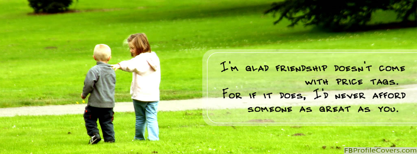 Friendship Quote Facebook Timeline Cover