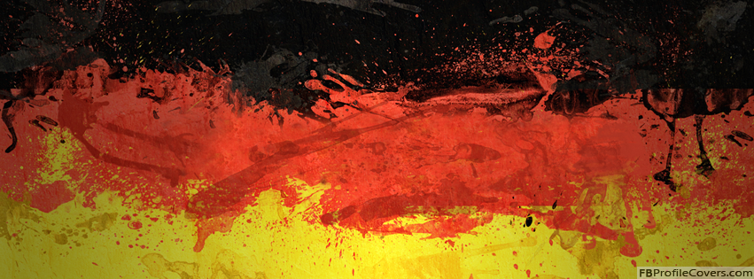 Germany Flag Facebook Timeline Profile Cover Design