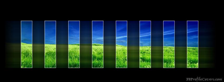 Green Stripes Facebook Timeline Cover