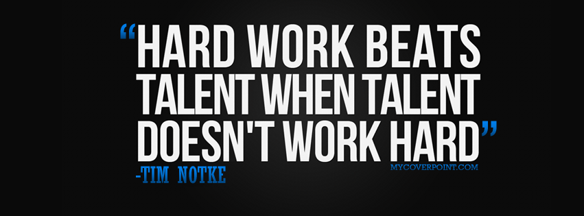 Hard Work Quote Facebook Timeline Cover