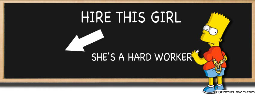 Hire This Girl Facebook Timeline Cover