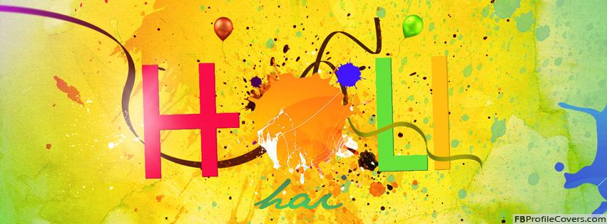 Holi Hai Facebook Timeline Profile Cover Image