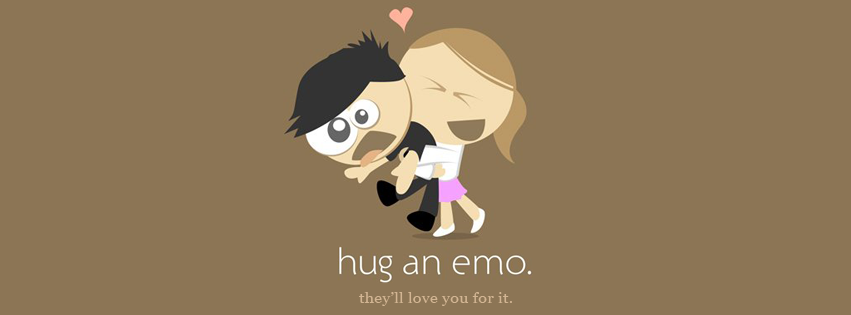 Hug An Emo Facebook Timeline Cover