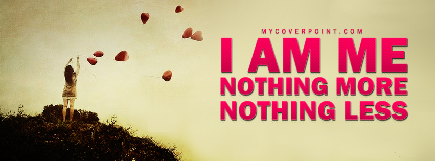 I Am Me Facebook Cover