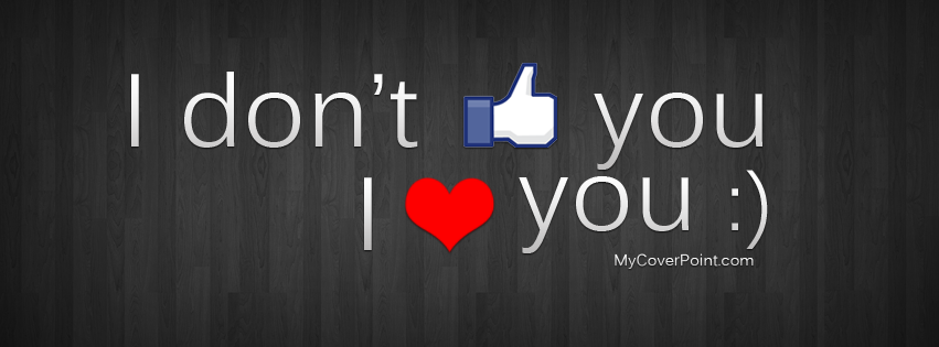 I Heart You Facebook Timeline Cover
