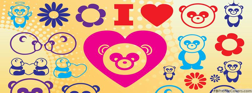 I Love Pandas Facebook Timeline Profile Cover Photo