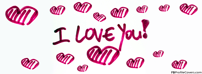 I Love You Hearts Facebook Timeline Cover Banner
