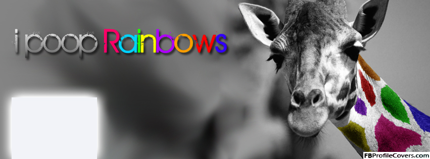 I Poop Rainbows Facebook Timeline Cover