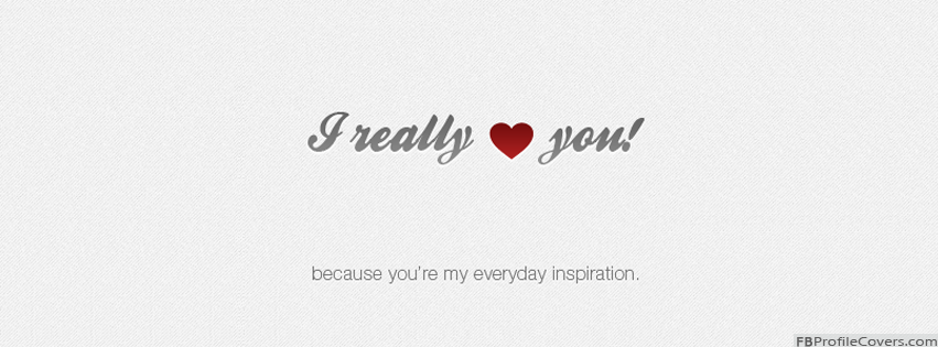 I Really Love You Facebook Timeline Profile Cover Photo - Love Hearts FB Cover Images
