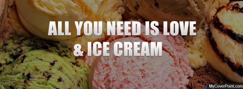 Love Ice Cream Facebook Cover