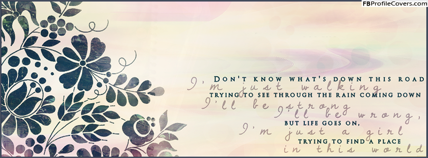 I'm Just A Girl Facebook Timeline Cover Photo