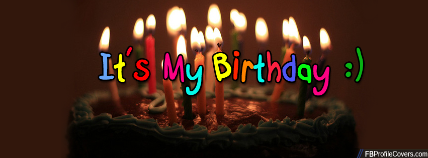It's My Birthday FB Timeline Cover Image