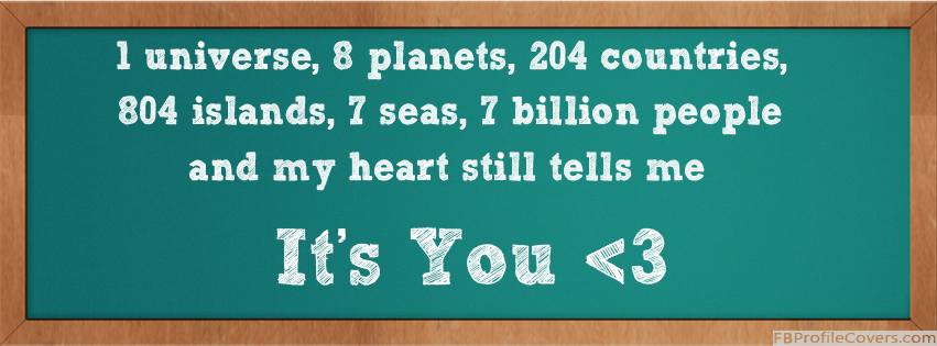 It's You Facebook Timeline Cover Photo