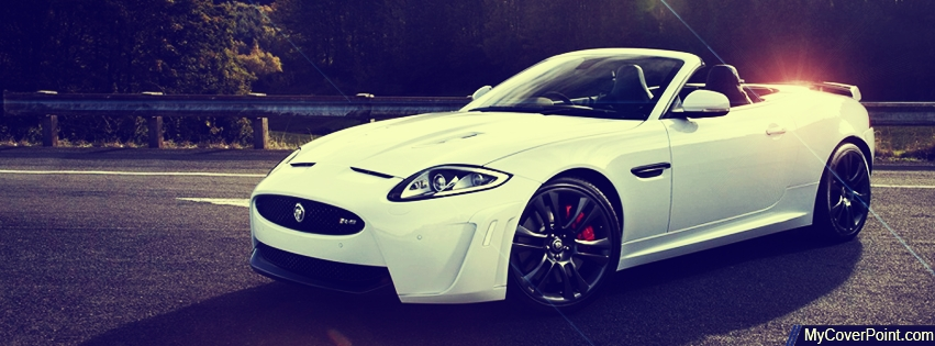 Jaguar Convertible Facebook Cover