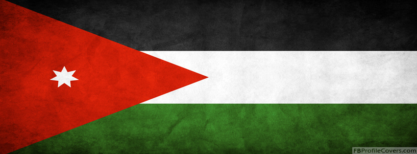 Jordan Flag Facebook Timeline Profile Cover - Flags Timeline Covers